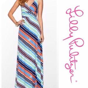 Lilly Pulitzer Amada striped maxi dress SzL